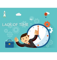 Time management lack of time concept businessman vector