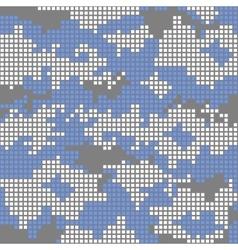 Urban camo pattern - blue pixels vector
