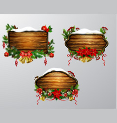 Wooden christmas board vector