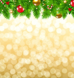Xmas fir tree border vector