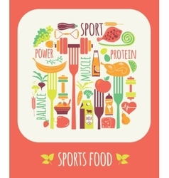 Sports food vector