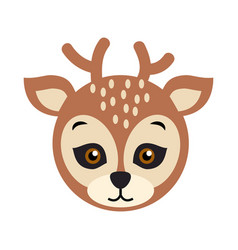 Deer carnival mask spotted reindear with horns vector
