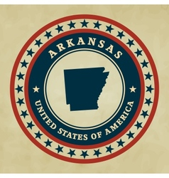 Vintage label arkansas vector