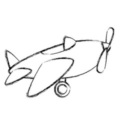 airplane toy isolated icon vector image