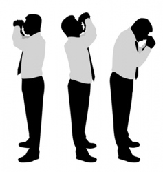Businessman looking binoculars vector