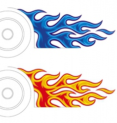 car fireball vector image