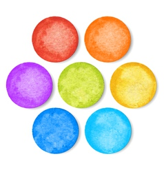 Set of watercolor circles vector