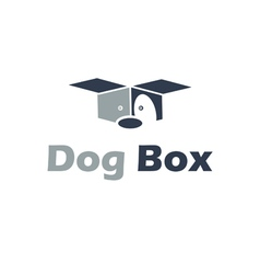Abstract of dog from box vector