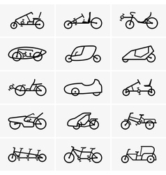 Bicycle cars vector