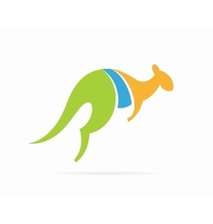 Kangaroo logo design template vector