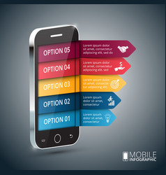 Isometric mobile for infographic vector