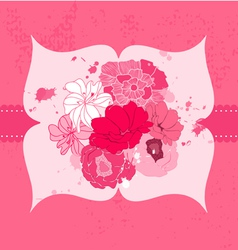 Romantic flower card vector