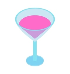 Cocktail isometric 3d icon vector