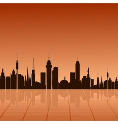 City at dawn vector