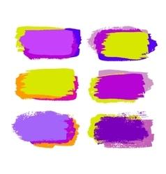 Grunge brush strokes vector
