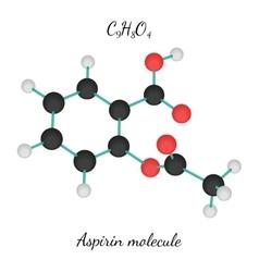 C9h8o4 aspirin molecule vector