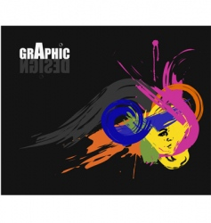 graphic design brochure vector image
