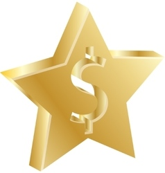 Golden dollar sign vector