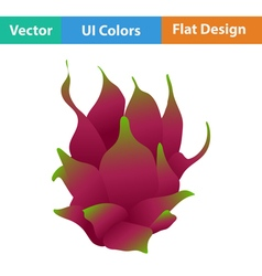 Flat design icon of dragon fruit vector