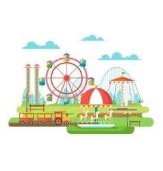 Amusement park flat design vector