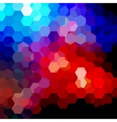 Background made of hexagons Square composition vector image vector image