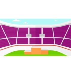 Background of stadium with podium for winners vector image