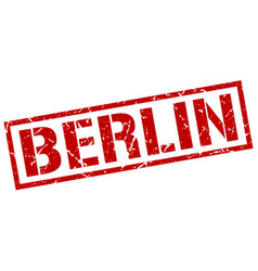 Berlin red square stamp vector