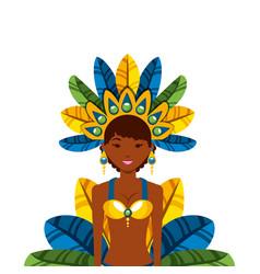 brazilian dancer icon vector image