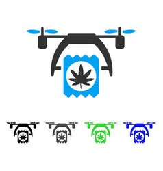 cannabis drone delivery flat icon vector image vector image