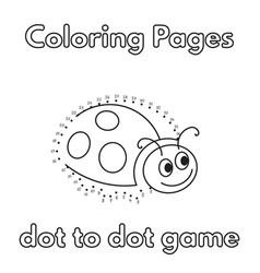 cartoon ladybug coloring book vector image vector image