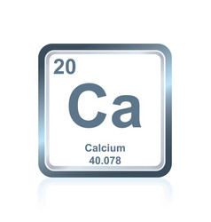 Chemical element calcium from the periodic table vector