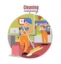 cleaning company template vector image vector image