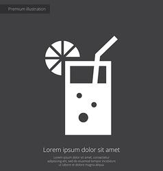 cocktail premium icon white on dark background vector image