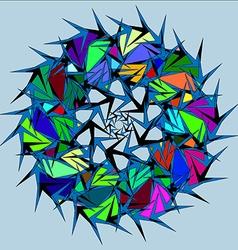 Colorful circle globe vector image