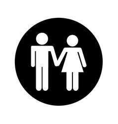 couple figure silhouette icon vector image vector image