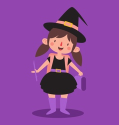 Cute student witch vector