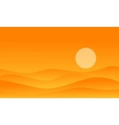 Desert on orange backgrounds vector
