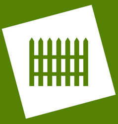 Fence simple sign white icon obtained as vector