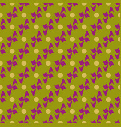 Flower polka dot geometric seamless pattern 1801 vector