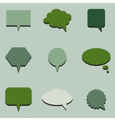 Green communication bubbles vector image vector image