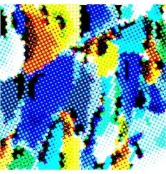 Halftone multicolored vector image vector image