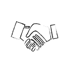 Handshake pictogram symbol vector
