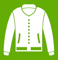 jacket icon green vector image