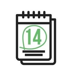 Marked Calendar vector image vector image