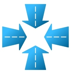 Merge directions gradient icon vector