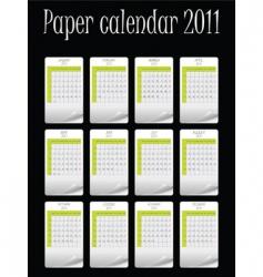 paper vector calendar for 2011 vector image vector image