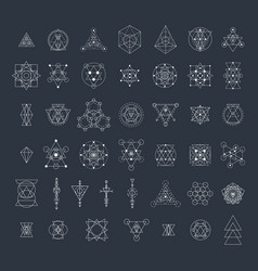 Sacred geometry signs collection vector