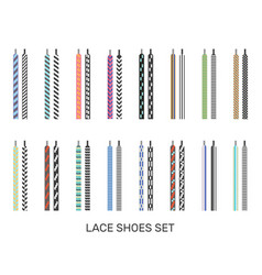 Shoelaces modern colored pairs collection vector