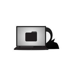 Technology cyber security laptop folder hacker vector