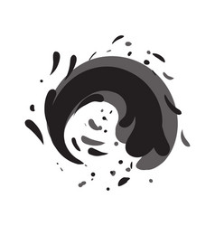 Tide water roller isolated icon vector